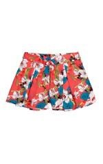 Guess Short Fille Imprime floral Rouge J82D27