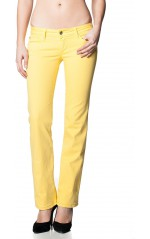 Salsa Jean droit femme Push Up Straight jaune