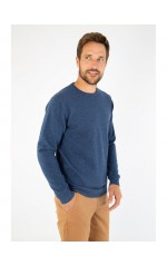 Armox lux pull homme col rond bleu